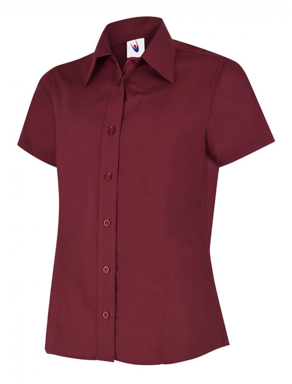 Uneek UC712 Ladies Poplin Half Sleeve Shirt  Clothing