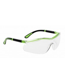 Portwest PS34 - Neon Safety Spectacle - Clear Eye & Face Protection